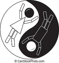 ying, pind figur, yang