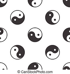 Ying yang pattern - Image of ying yang symbol, repeated on...