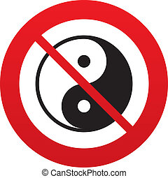 Ying yang sign icon. Harmony and balance symbol.