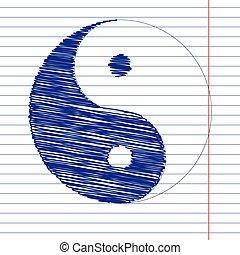 Ying yang sign illustration