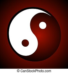 ying yang sign red