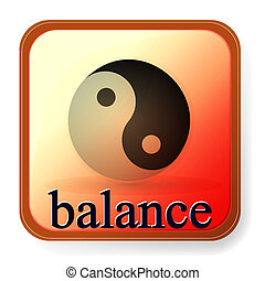ying yang, symbol, od, harmonia, i, waga