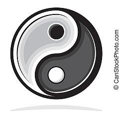 Ying yang symbol of harmony and bal