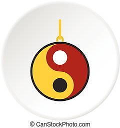Ying yang symbol of harmony and balance icon