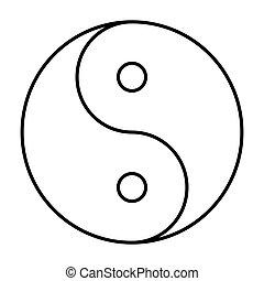 Ying yang symbol of harmony and balance