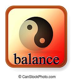 ying yang, symbol, von, harmonie, und, gleichgewicht