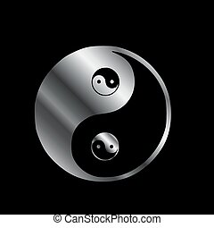 Ying yang the symbol of harmony and balance- good and evil