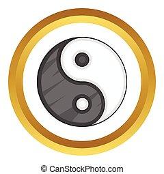 Ying yang vector icon