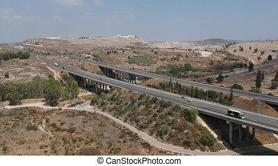 Yitzhak Rabin Highway shot clip