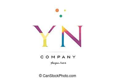 regenboog alfabet creatief kleuren r brief logo rn