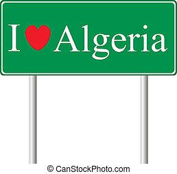 yo, amor, argelia, concepto, muestra del camino