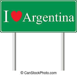 yo, amor, argentina, concepto, muestra del camino