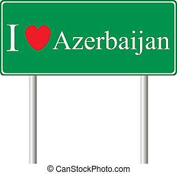 yo, amor, azerbaiyán, concepto, muestra del camino