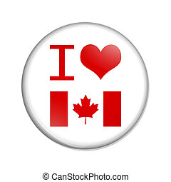 yo, amor, canadá, botón