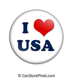 yo, amor, estados unidos de américa, botón