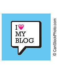 yo, amor, mi, blog, burbuja