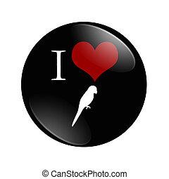 yo, aves de amor, botón