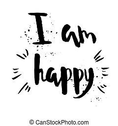 yo, soy, feliz, frase