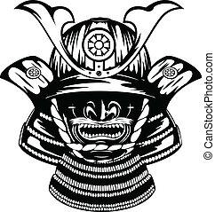 yodare-kake, samouraï, menpo, casque