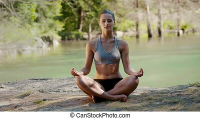 yoga, étirage, 2of7, gens