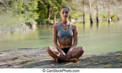 yoga, étirage