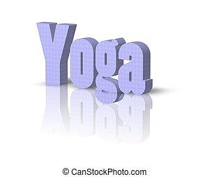 yoga 3d word
