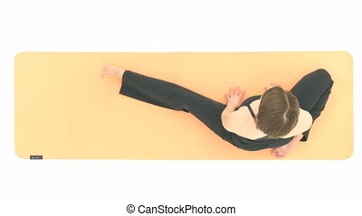 Yoga Asana in sequence: Revolved Head-to-Knee Pose, Revolved...