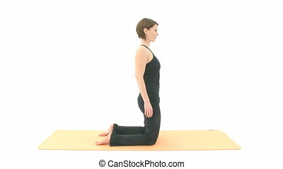 Yoga Asana in sequence: Camel Posture, Camel Pose, Backbend
