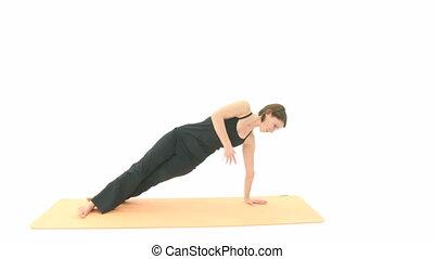 Yoga Asana - Yoga in sequence: Asana Side Plank, Side Plank...