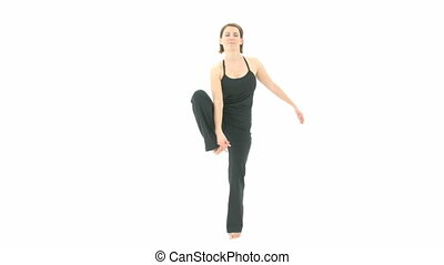 Yoga Asana Extended Hand to Big Toe Pose, Extended Hand to...
