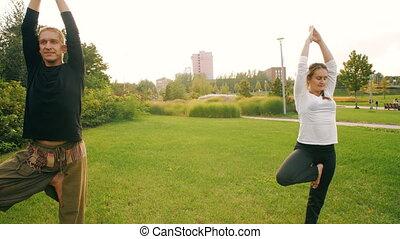 Yoga at public park