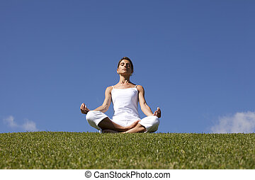 Yoga at the nature
