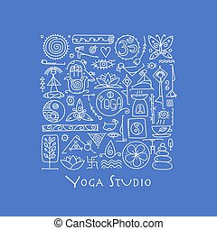 Yoga background for your design
