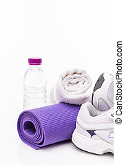Yoga Background isolated on white with copy space