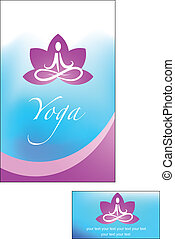 Yoga background - Yoga lotus background