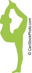 Yoga balance silhouette