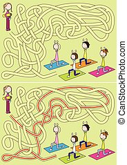 Yoga class maze