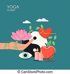 Yoga classes vector flat style design illustration