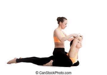 cobra pose bhudjangasana sporty beautiful young woman