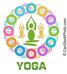 Yoga Colorful Rings Circular