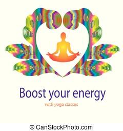 Yoga concept design template