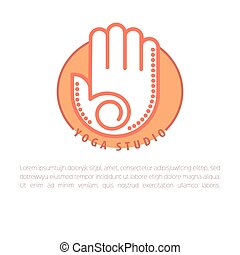 Yoga concept design template with copy space for text. ...