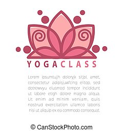 Yoga concept design template with copy space for text....