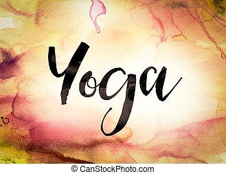 Yoga Concept Watercolor Theme