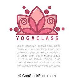 yoga, concetto, disegno, sagoma, con, spazio copia, per,...