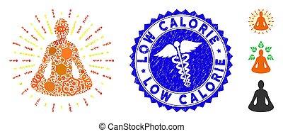 yoga, contagio, caloría, meditación, mosaico, estampilla,...