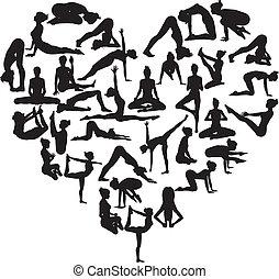 yoga, corazón