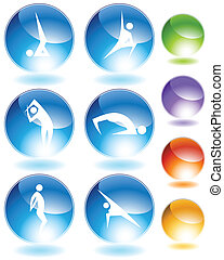 Yoga Crystal Icon Set