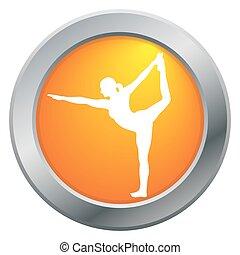 Yoga Dancer Pose Orange Icon