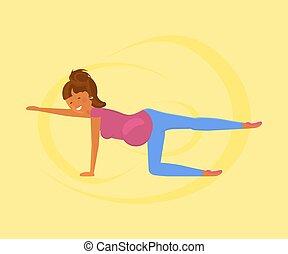 yoga, dla, brzemienne kobiety
